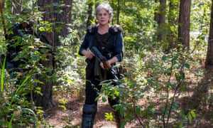 Melissa McBride as Carol, possibly foraging for turnips.