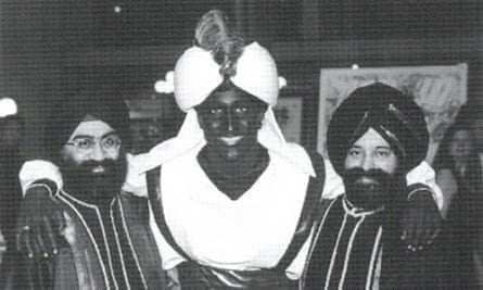 """Justin Trudeau<br>This April 2001 photo, which appeared in a newsletter from the West Point Grey Academy, shows a costumed Justin Trudeau, his face and hands darkened by makeup, attending an """"Arabian Nights"""" gala. The academy is a private school in Vancouver, B.C., where Trudeau worked as a teacher before entering politics. (West Point Grey Academy/The Canadian Press via AP)"""