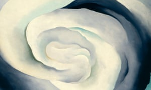 A detail from Georgia O'Keeffe's Abstraction White Rose, 1927.