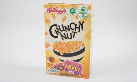 Kellogs Crunchy Nut cornflakes cereal