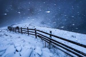 Blizzard in the High Peak, Derbyshire
