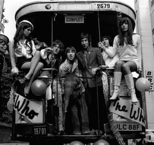 The Who pictured in 1968