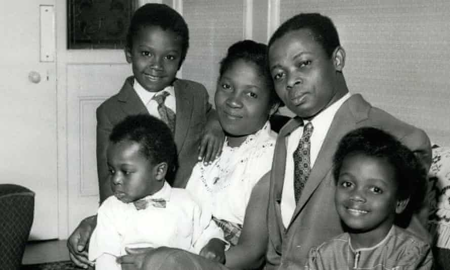 Adoley Odunton, right, aged six, who was known as Muriel in Britain, with her parents and brothers in 1959. Her father, Joseph Odunton, had been appointed by the Queen to handle press arrangements for a royal visit to Ghana.