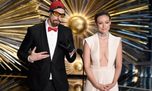 Ali G (Sacha Baron Cohen in disguise) with Olivia Wilde
