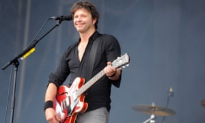 Bertrand Cantat performs with his band Detroit at the Festival des Vieilles Charrues in Carhaix-Plouguer, western France in 2014.