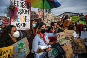 Fridays for Future movement at Kadikoy district of Istanbul