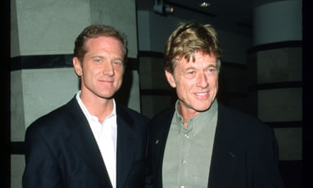 James with his father, the actor Robert Redford, in 1999.