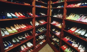 Well leeled ... some of Imelda Marcos's shoes. Photograph: Sipa Press/Rex Features