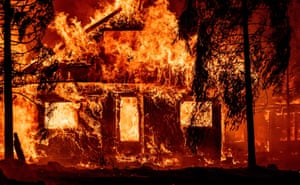 California: A home burns as flames from the Dixie fire tear through the Indian Falls neighborhood