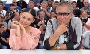 No ordinary auteur … Takashi Miike, right, with actor Hana Sugisaki, publicising Blade of the Immortal.
