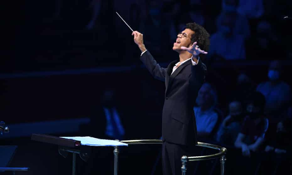 High energy … Jonathon Heyward conducts the National Youth Orchestra of Great Britain's Prom at the Royal Albert Hall.