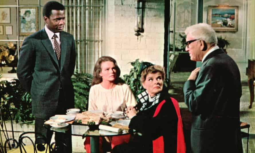 Katharine Hepburn, Spencer Tracy and Sidney Poitier
