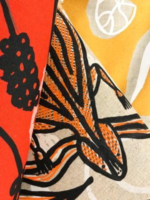 Textile designs by the Bábbarra women