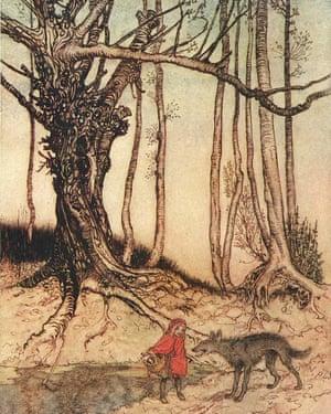 Arthur Rackham illustration for Little Red Riding Hood