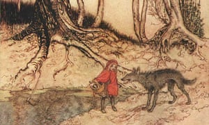 'I did 20 years hard labour while the slut inherited her grandmother's savings...': a new take on Little Red Riding Hood.