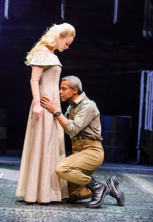 Vanderham as Desdemona with Hugh Quarshie as Othello.