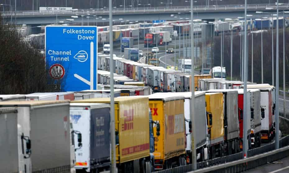 Lorries at Folkestone
