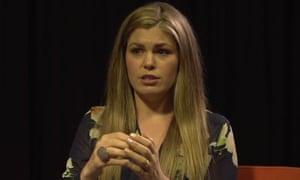 Still from a video of wellness blogger Belle Gibson interview