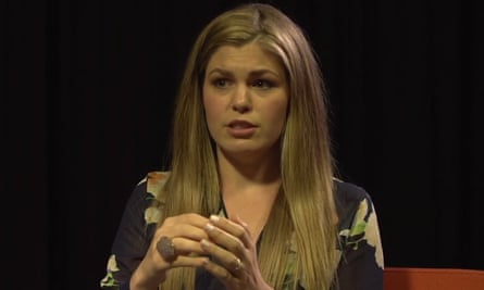 Still from a video of wellness blogger Belle Gibson interview
