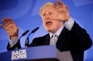 Boris Johnson speaks in London, England