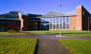 The exterior of HMP Woodhill Prison, Milton Keynes