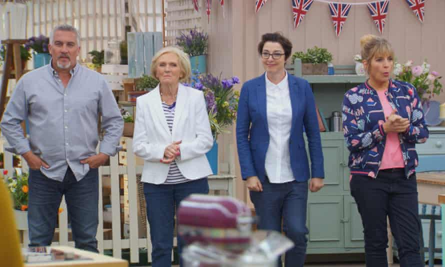 GBBO stars (L to R): Judges Paul Hollywood and Mary Berry, with hosts Sue Perkins and Mel Giedroyc.