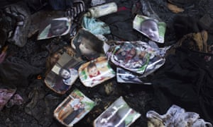 Family possessions following the fire in the Palestinian village of Duma, West Bank, suspected to have been set by Jewish extremists. The fire killed an 18-month-old Palestinian child, injured both parents and a four year old brother.