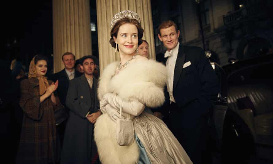 A right royal performance … The Crown is up for five awards at the 2017 Bafta TV awards.
