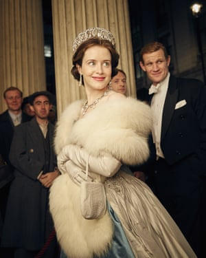 Claire Foy and Matt Smith in the Netflix series The Crown