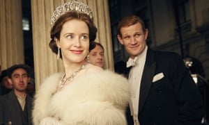 Claire Foy and Matt Smith in Netflix series The Crown.