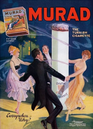 Known as 'the Turkish cigarette', Murad was one of many brands employing phallic imagery in their ads, such as this 1919 insert