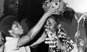 Mighty Sparrow gets crowned Calypso Monarch.
