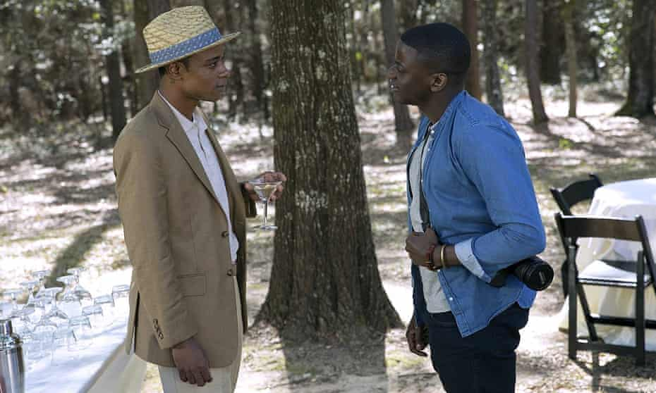 Lakeith Stanfield, left, and Daniel Kaluuya in Get Out, directed by Jordan Peele, 2017.