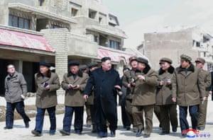 Samjiyon, North Korea: North Korean leader Kim Jong-Un on a walkabout in Samjiyon county