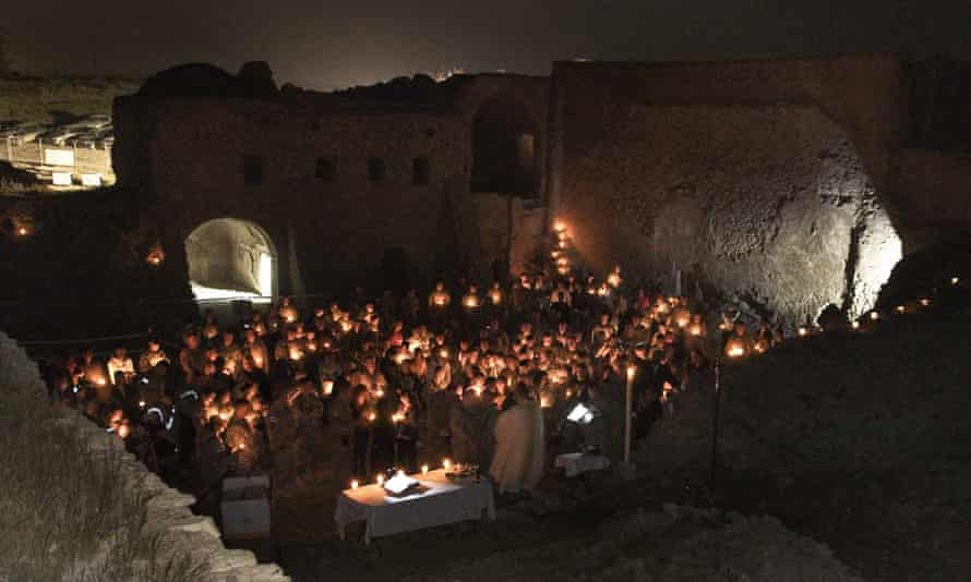 A 2010 Catholic Easter service held at the monastery for US soldiers.