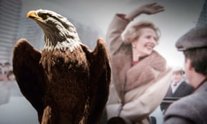 Stuffed eagle at Christie's Thatcher auction