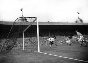 Bolton's William Moir flicks a header beyond Blackpool keeper Farm and into the net.