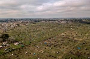 Tents in fields