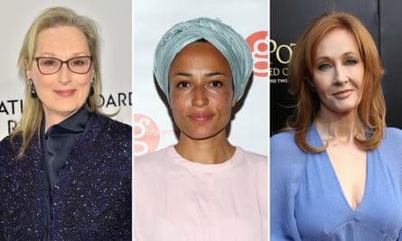 Meryl Streep, Zadie Smith and JK Rowling.