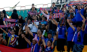 Thai football fans at a World Cup qualifying match