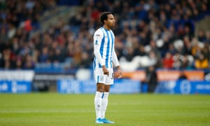 Demeaco Duhaney seen here during his second appearance for Huddersfield Town, against Leeds in the Championship.