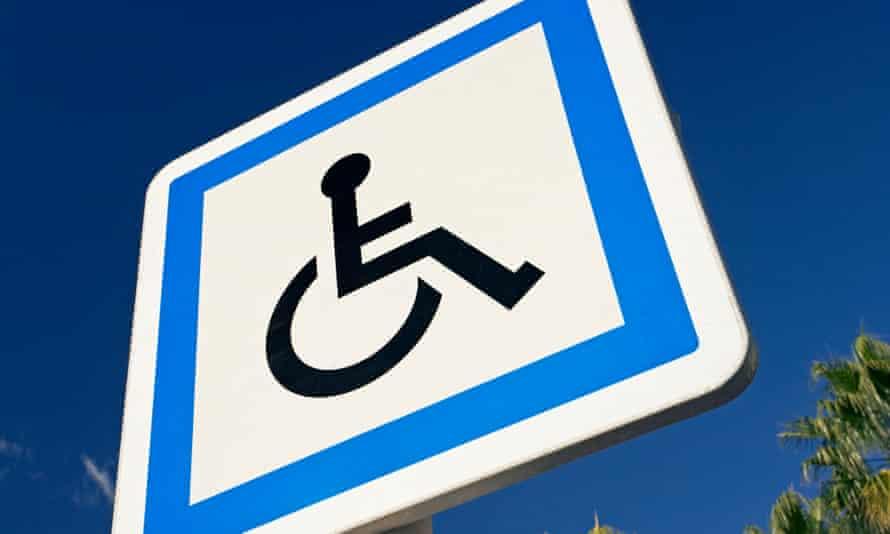 A wheelchair sign