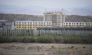 The Artux City Vocational Skills Education Training Service Center north of Kashgar, Xinjiang, believed to be a re-education facility.