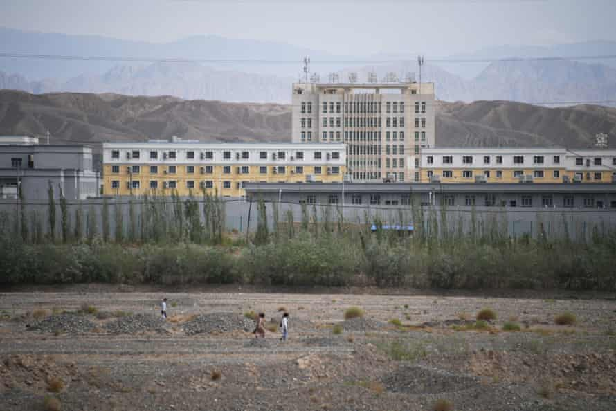 Buildings in China's north-western Xinjiang region are believed to be a re-education camp for Uyghurs.
