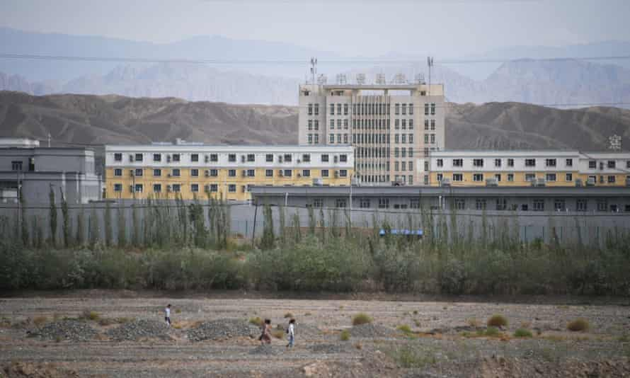 A building believed to be a re-education camp where mostly Uighur people are detained, north of Kashgar in China's north-west Xinjiang region.