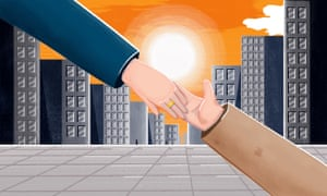 Illustration for homeless outreach worker by Michael Driver
