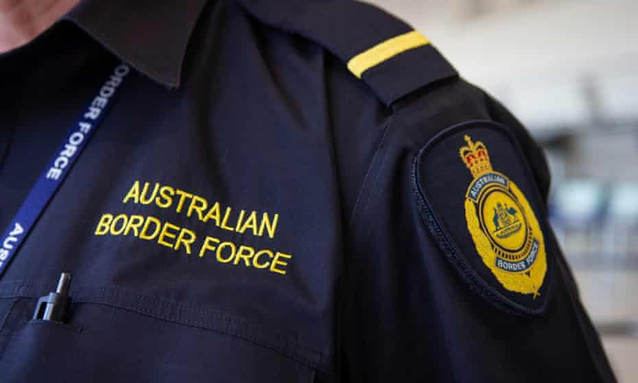 Australian border force uniform close up