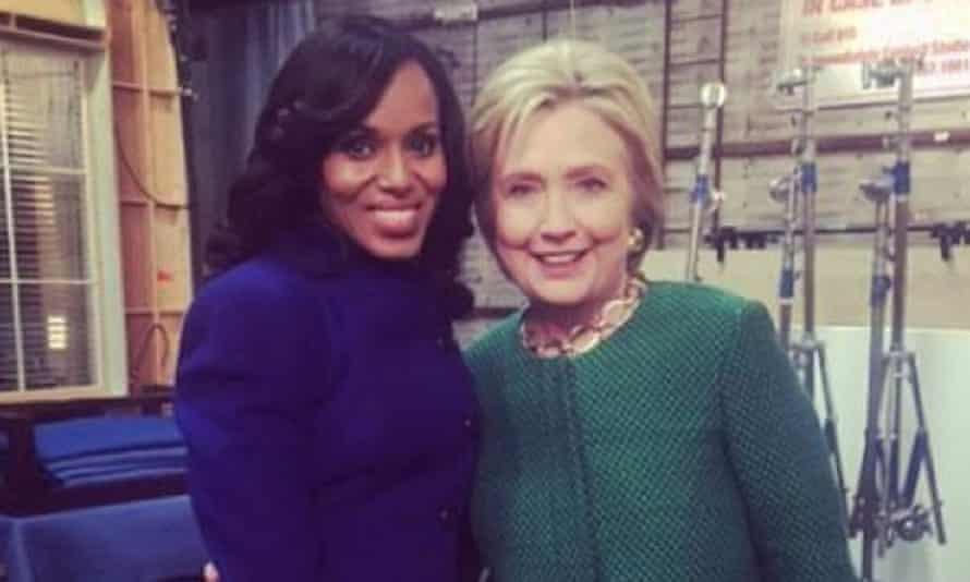 Kerry Washington and Hillary Clinton