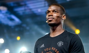 Paul Pogba during a Manchester United promotional event in Shaghai, where they are scheduled to play Tottenham Hotspur on Thursday in a pre-season friendly