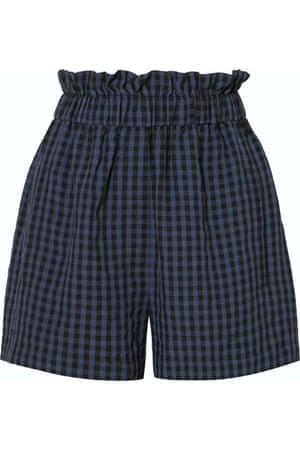 Gingham seersucker shorts